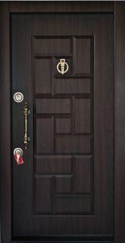 درب ضد سرقت تمام پانل کتیبه دار برجسته کد 813 با روکش PVC