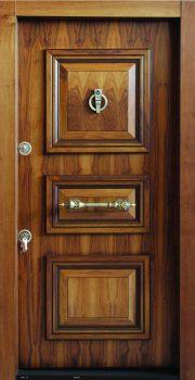 درب ضد سرقت 840 طرح سه قاب گردویی