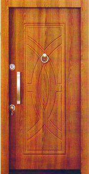 درب ضد سرقت 841 با روکش چوب گردوئی