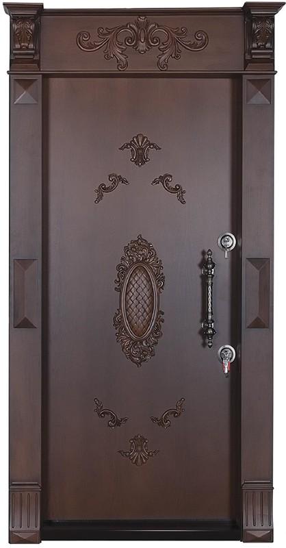 درب ضد سرقت تمام پانل منبت کاری شده 864