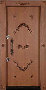 درب ضد سرقت تمام پانل منبت کاری شده 868