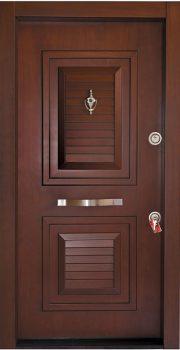 درب ضد سرقت تمام پانل کتیبه دار 801 - درب معتقد