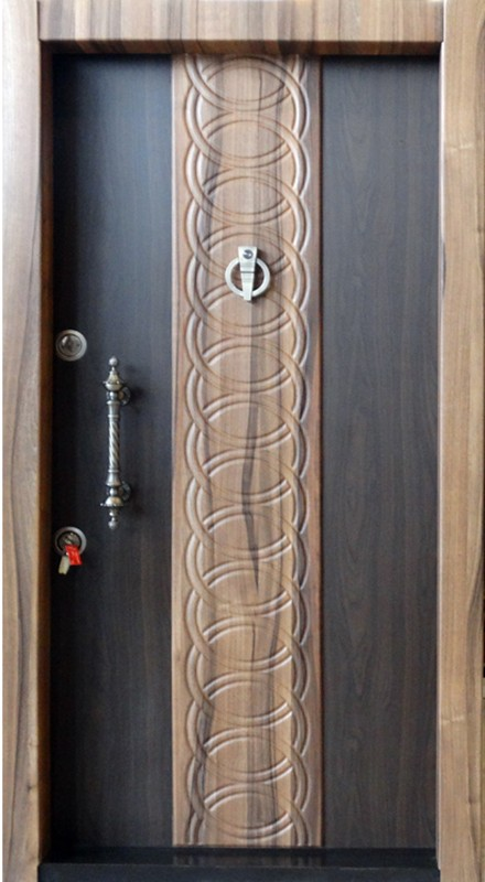 درب ضد سرقت کتیبه دار برجسته 849 با روکش P.V.C
