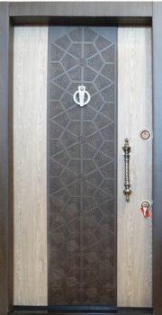 درب ضد سرقت کتیبه دار برجسته 850 با روکش P.V.C